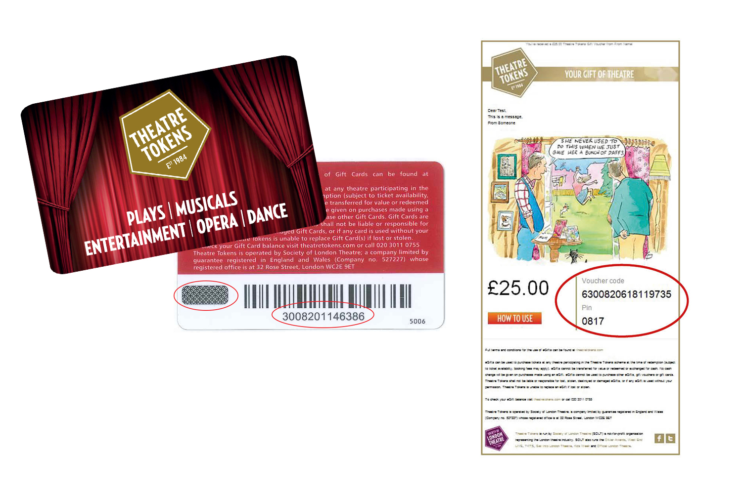Theatre Tokens Gift Card and eGift