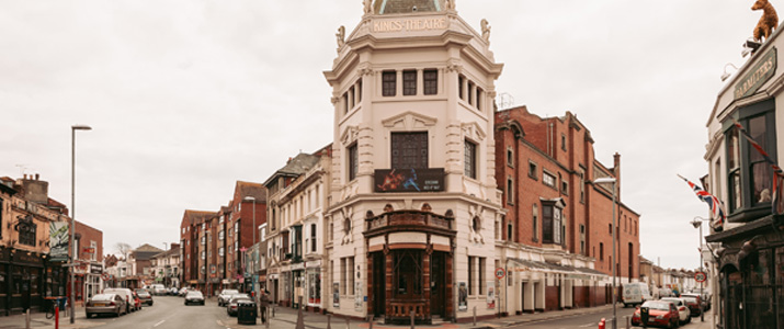 The front of the Kings Theatre, Portsmouth
