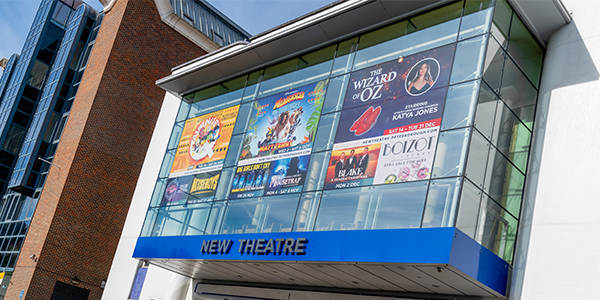 The facade of New Theatre, Peterborough