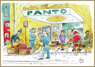 Santa Loves Panto Card