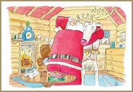 Santa Hug Greeting Card